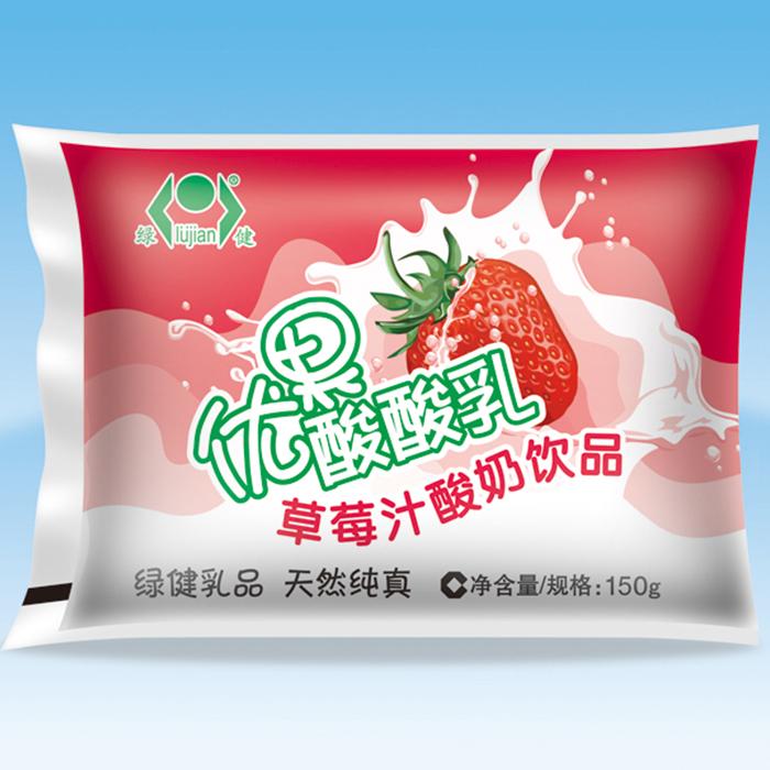 优果酸酸乳草莓汁酸奶饮品