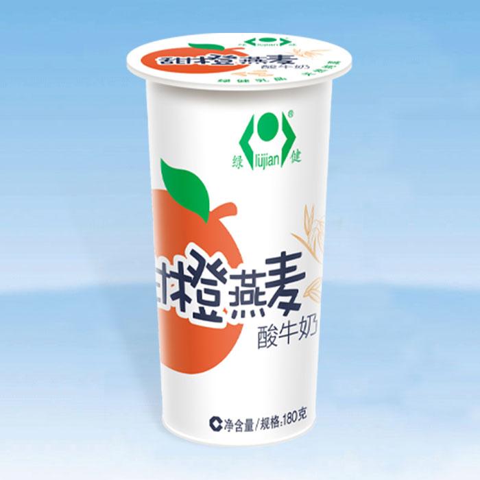 甜橙燕麦酸牛奶